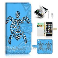 iPhone 5 5S Flip Wallet Case Cover! P0959 Aztec Turtle