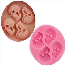 Skull Head Silicone Fondant Cake Mould Chocolate tool Halloween Party Exquisite