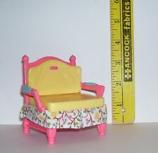 FISHER PRICE LIVING ROOM CHAIR ONLY DOLLHOUSE FURNITURE