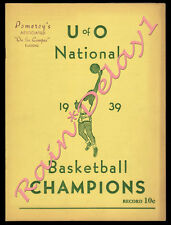 RARE 1939 Oregon Ducks 1st EVER NCAA FINAL FOUR CHAMPS Campus Publication!!