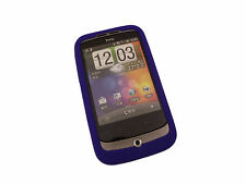 Blue Soft Silicone Skin Case for HTC Wildfire