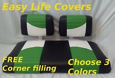 NEW Vinyl Golf Cart CUSTOM Front Seat Cover Set -  staple on CLUB CAR DS 65