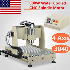 4 Axis 3040 CNC Router CNC Engraver Milling Drilling Engraving Machine 800W VFD