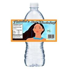 20 POCAHONTAS PERSONALIZED BIRTHDAY PARTY FAVORS ~ WATER BOTTLE LABELS WRAPPERS