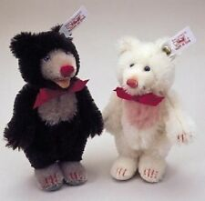 "Steiff Teddy Babys ""Little Blackey"" & ""Little Whitey"" inkl. Zertifikat und Buch"