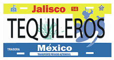 "Tequileros de Jalisco License Plate Window Sticker Vinyl Decal Size 6"" x 3"""
