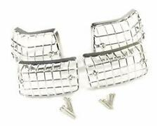 CHROME INDICATOR GRILLS - SET OF 4 INC SCREWS fits VESPA PX T5 LML 125 150 200