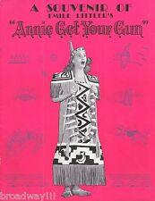 """Dolores Gray """"ANNIE GET YOUR GUN"""" Irving Berlin 1947 London Souvenir Program"""