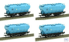 38-500Z Bachmann Pack of 4 Blue Sugar Covhop Wagons TMC Exclusive