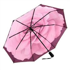 The Perfect English Rose Print Womens Lady Sun Parasol Rain Umbrella - Compact