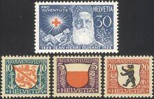 Svizzera 1928 CROCE ROSSA DUNANT// Cappotti-delle armi/Benessere fondo/Leone/Bear 4v n45449