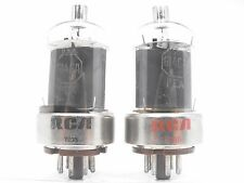 RCA 6146A Vintage Tube Pair Matched Gray Plate Ham Radio Finals (Test 105%)