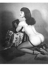 Betty Page nylons woman print Bettie leggy butt female girl nude model photo W