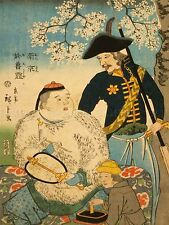 PAINTINGS DRAWING CHINESE RUSSIAN MEN JAPANESE IMPRESSION JAPAN PRINT LV3077
