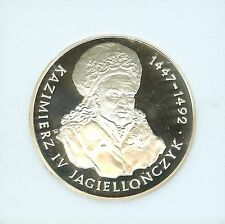 Rare 1993 Poland Silver Proof 200000zl  King Kazimierz IV 1447-1492