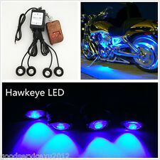 DC12V Hawkeye Blue LED Motorcycles Flashing Strobe Lights & Wireless Remote Kit