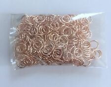 New! 300 pcs Brass Rose Gold Open Jump Rings 5mm Jewelry Making Findings 71G