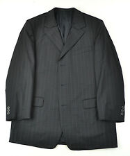 Gianni Versace COUTURE Dark Striped Embroidered Suit Excellent 42 42r Italy RARE