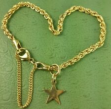 JAMES AVERY RETIRED 14K Med Rope Bracelet W/ 14k Star charm LOWEST ON EBAY