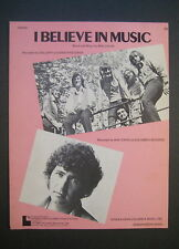 I Believe In Music by Gallery and Mac Davis sheet music