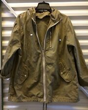 Topshop Army Green Lightweight Parka EUC Size 6