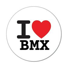 I love BMX - Aufkleber Sticker Decal - 6cm