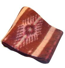 "#5Fair Trade Brushed Alpaca Blend Recycled Wool Blanket Reversible Throw 78""x96"""