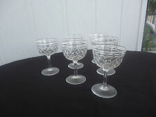 6 vintage antique crystal tudor england  small wine sherry glasses