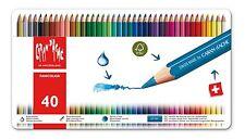 Caran d'Ache Matite Colorate Acquerellabili FANCOLOR Scuola Scatola 40 Pastelli
