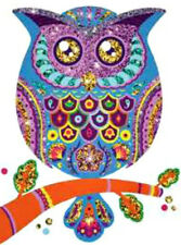 20  WATER SLIDE NAIL ART  DECAL TRANSFERS COLORFUL OWL 5/8 INCH MANICURE