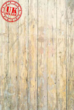 WOOD CREAM FLOOR BACKDROP WALLPAPER BACKGROUND VINYL PHOTO PROP 5X7 FT 150x220CM
