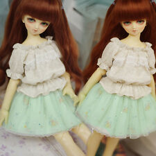 New 1/3 1/4 SD MSD LUTS BJD Doll Clothes Lotita Sweet Dress+T-shirt Suit/Outfit