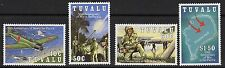 Tuvalu SG668/71 1993 50th aniversario de guerra en el Pacífico estampillada sin montar o nunca montada