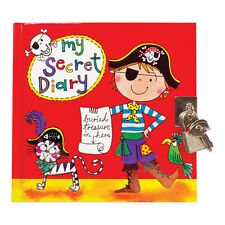 Pirate Secret Diary - Padlock & Key - Black Pages - Boys - Rachel Ellen Designs
