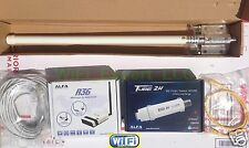 WiFi 8dBi Fiber Antenna + ALFA R36 + PoE TUBE 2H Outdoor Boost GET FREE INTERNET