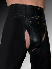 Lederchaps schwarz Lederhose Hose Leder CHAPS neu gay leather pants trousers
