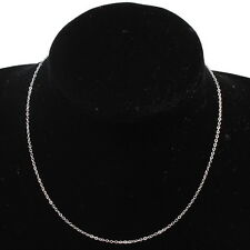 10x 130228  Wholesale Plated Rhodium Oblate Link  Necklace Chain Findings 40cm
