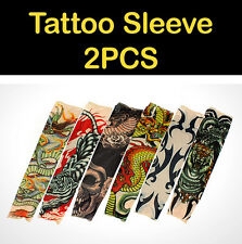 Tiger Tattoo Sleeve Arm Cooling Cover Sun protection UV Block golf cycling 2PCS