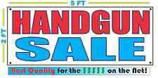 HANDGUN Banner Sign NEW Larger Size Best Quality for The $$$ Pistol Automatic