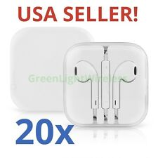 20x LOT Earpods Earphones Earbuds Headsets Remote & Mic for Apple iPhone