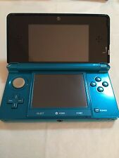 Nintendo 3DS Launch Edition Aqua Blue Handheld System *WORKS*
