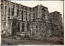 C168 Photographie vintage original St Quentin Destruction guerre Basilique 1915