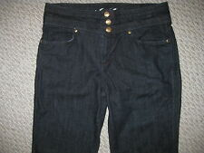 NEW JUICY COUTURE SEXY DARK DENIM TROUSER PANTS JEANS GOLD HARDWARE SIZE 30 TALL