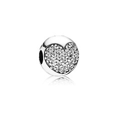 Authentic PANDORA 925ale  Clear Pave Crystal Clip Charm 791053CZ