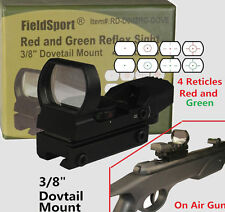 Field Sport Red and Green Micro Dot Reflex Sight 3/8 Dovetail For Air Soft