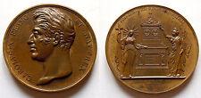 Charles X - Médaille du monument de Quiberon par Caqué, 1825 - Rare !!