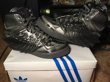 New Adidas JS Wings Molded Black Black Black Size 10 M29014 Jeremy Scott