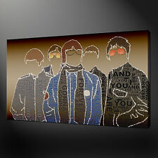OASIS MUSIC BAND CANVAS WALL ART PICTURES PRINTS 30 X 20 Inch WALL ART