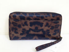 LOW BID! NEW Authentic LIZ CLAIBORNE Zip Around Clutch Wallet Wristlet Leopard