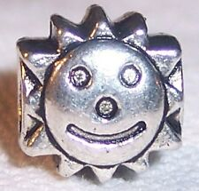 Solar Sun Sunburst Happy Smiley Face Bead fits Silver European Charm Bracelets